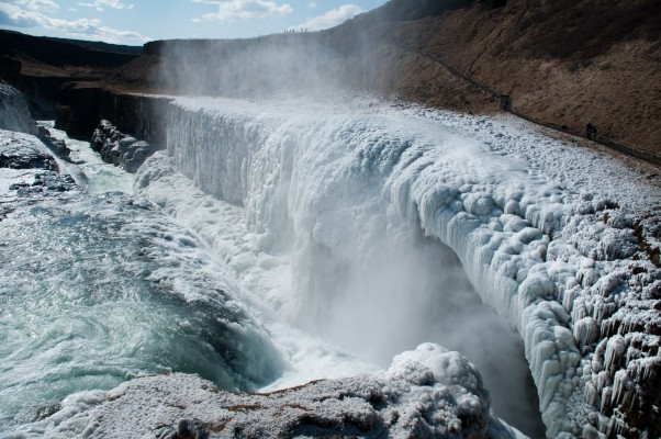 icy gullfoss, i'm looking forward to the comparison in summer